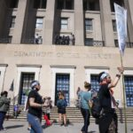 Over 100 Arrested During Climate Protest at Interior Department, Some Reportedly Tased 12