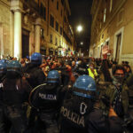 Pelosi's trip to Rome was disrupted by violent anti-vaccine mandate protests 7