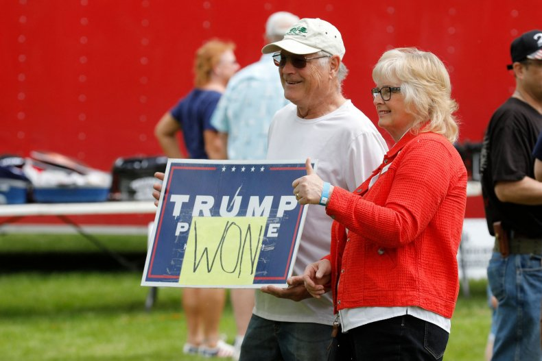 Protesters Crowd Michigan Capitol After Donald Trump Calls for 2020 'Forensic Audit' 1
